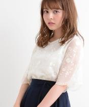 【WEB限定価格】総チュール刺繍プルオーバー
