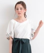 【WEB限定価格】フレア袖刺繍プルオーバー