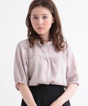 【WEB限定価格】シアーチェック5分袖プルオーバー