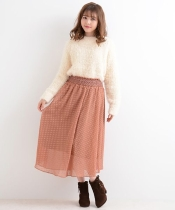 【WEB限定価格】○E透けドットボリュームスカート
