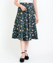 【WEB限定価格】コーデュロイ花柄スカート