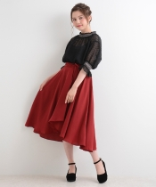 【WEB限定価格】ラップ風イレギュラーヘムスカート