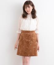 【WEB限定価格】ベロア刺しゅうスカート