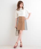 【WEB限定価格】サイドチェックAラインスカート