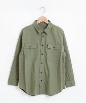 コットンピーチミリタリービッグシャツ