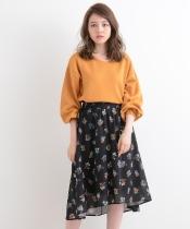 【WEB限定価格】メッシュボタニカル花柄スカート