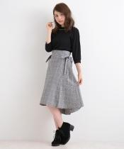 【WEB限定価格】脇リボンフレアースカート