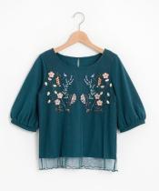 【WEB限定価格】刺繍チュールプルオーバー