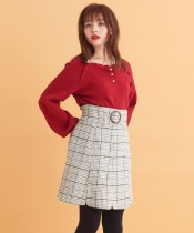 ビッグバックルAラインスカート