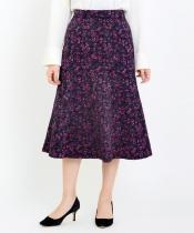 レトロフラワージャカードスカート