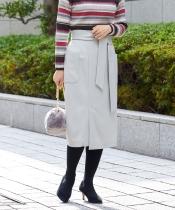 サッシュリボンポケットタイトスカート