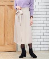 リボンベルトトラペーズスカート