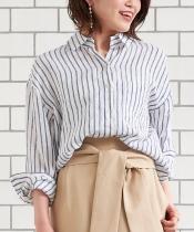 フレンチリネン2wayビッグシャツ