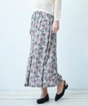 ビンテージフラワープリントマキシスカート