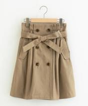 トレンチ風ミニスカート