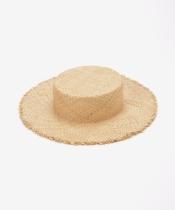 ラフィアカンカン帽