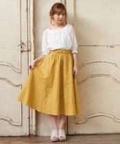 カラーロングスカート