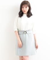サークルバックルAラインスカート