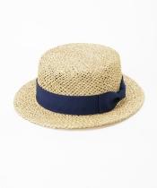編み込みカンカン帽