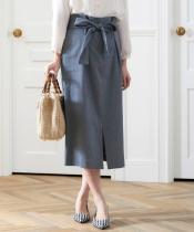 ウエストベルト付きタイトスカート