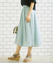 キリカエフレアギャザースカート