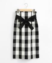 ビッグギンガムタイトスカート