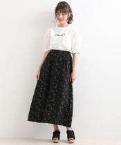 小花柄マキシスカート