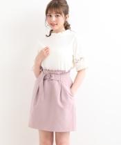 ベルトデザインAラインスカート
