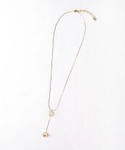 Jewel Casket パールメタルネックレス