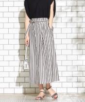 レジメンタルストライプロングタイトスカート