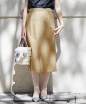 サイドベルトロングタイトスカート