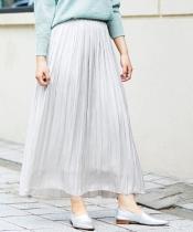 ヴィンテージサテンプリーツロングスカート