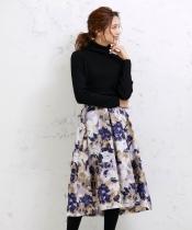 eclat 花柄フレアースカート