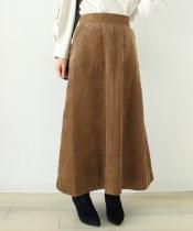ビンテージコールロングフレアスカート