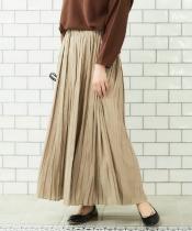 クチュールビンテージプリーツマキシスカート