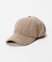 ケーブルニット風CAP