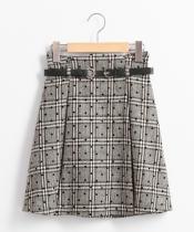 ダブルバックルベルト付ミニスカート