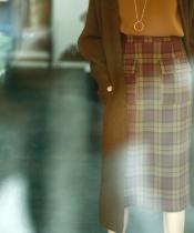 ウールライクフラップポケットタイトスカート