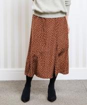 ウエストリボンドットフレアースカート