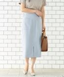 ポケットツキリネンライクイージータイトスカート