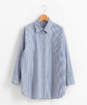 パールボタンビッグシャツ