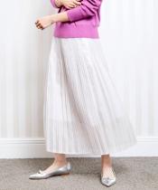 シャイニーシャンブレークリスタルプリーツスカート