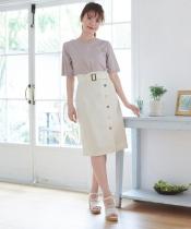 アソートボタンIラインスカート