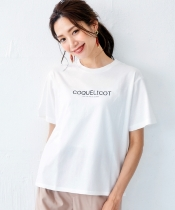 ロゴプリントクルーTシャツ