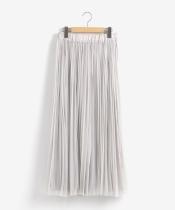 チュールプリーツ×サテンギャザーリバースカート