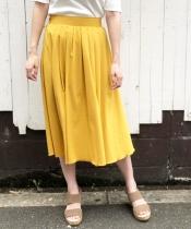 カラーフロントタックギャザースカート