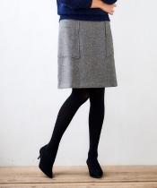 ツイードサイドポケットスカート