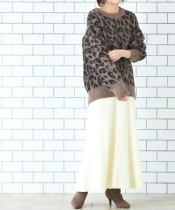 プリーツニットマーメイドスカート