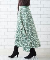 ラッフルデザインフラワースカート