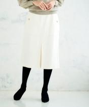 ボックスプリーツツイルタイトスカート